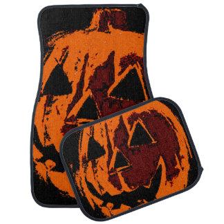 Halloween Pumpkin - grunge style + your ideas Car Floor Mat