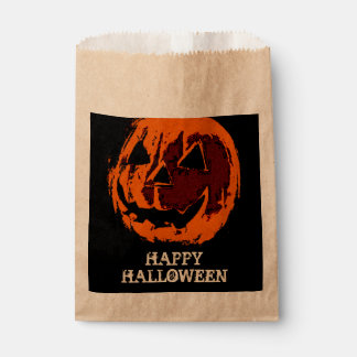 Halloween Pumpkin - grunge style + your ideas Favor Bag