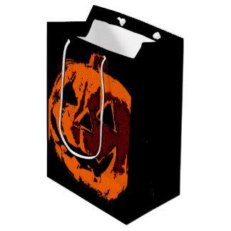 Halloween Pumpkin - grunge style + your ideas Medium Gift Bag