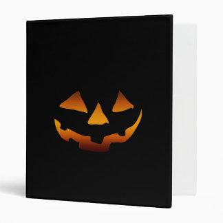 Halloween pumpkin happy face 3 ring binder