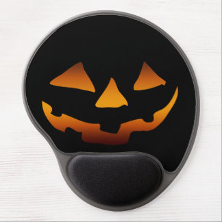 Halloween pumpkin happy face gel mouse pad