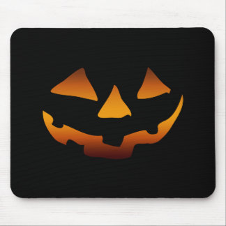 Halloween pumpkin happy face mouse pad