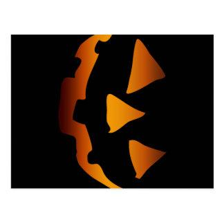 Halloween pumpkin happy face postcard