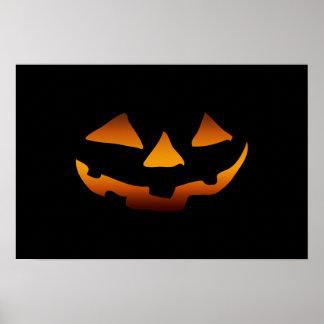 Halloween pumpkin happy face poster