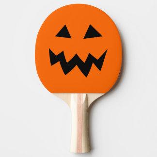 Halloween pumpkin head carving ping pong paddle