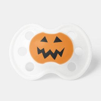 Halloween pumpkin head face carving baby pacifier