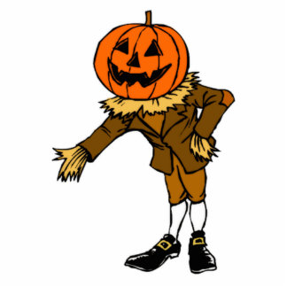 Halloween Pumpkin Head Photo Cut Out