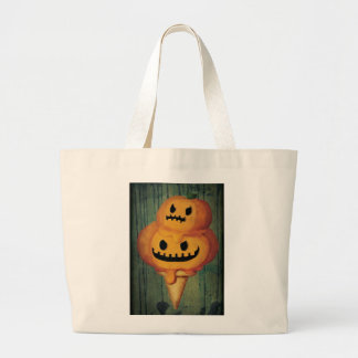 Halloween Pumpkin Ice Cream Cone Tote Bag