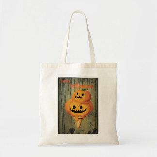 Halloween Pumpkin Ice Cream Cone Canvas Bag