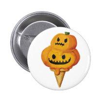artsprojekt, pumpkin head, jack o lantern, ice cream gift, trick or treat, halloween ice cream, halloween gift, ice cream, pumpkin, halloween, spooky, scary, halloween present, halloween design, halloween idea, halloween dessert, halloween pumpkin, ice cream present, pumpkin gift, pumpkin present, pumpkin ice cream, Button with custom graphic design