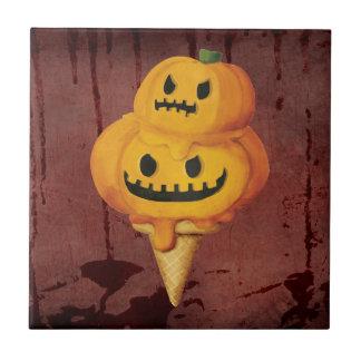 Halloween Pumpkin Ice Cream Cone Ceramic Tiles