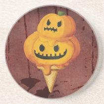 artsprojekt, pumpkin head, jack o lantern, ice cream gift, trick or treat, halloween ice cream, halloween gift, ice cream, pumpkin, halloween, spooky, scary, halloween present, halloween design, halloween idea, halloween dessert, halloween pumpkin, ice cream present, pumpkin gift, pumpkin present, pumpkin ice cream, Descanso para copos com design gráfico personalizado