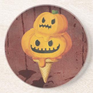 Halloween Pumpkin Ice Cream Cone Coaster