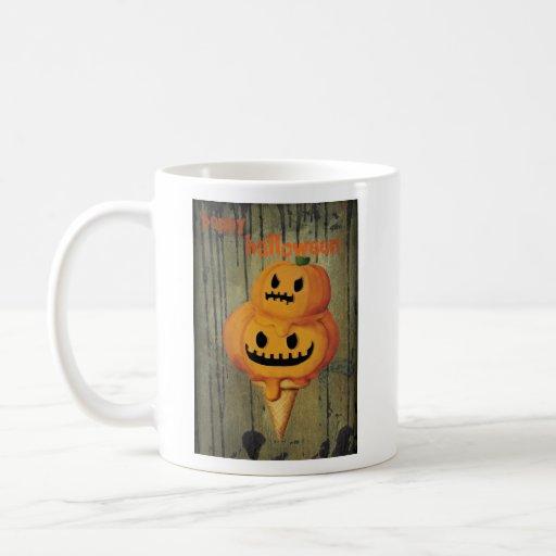 Halloween Pumpkin Ice Cream Cone Coffee Mugs