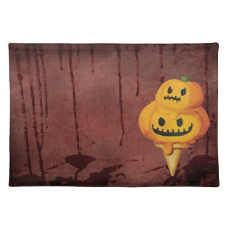 Halloween Pumpkin Ice Cream Cone Placemats