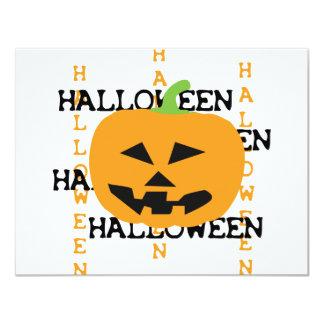 halloween pumpkin icon personalized invitations