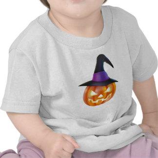 Halloween Pumpkin in Witch Hat Tee Shirt