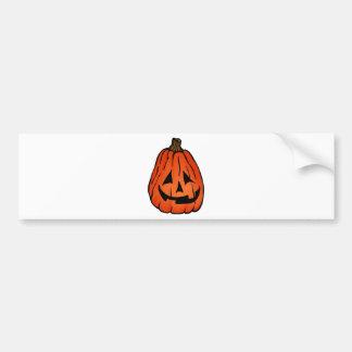 Halloween Pumpkin Jack o' Lantern Bumper Sticker