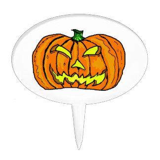 Halloween Pumpkin Jack-o -Lantern Cake Topper