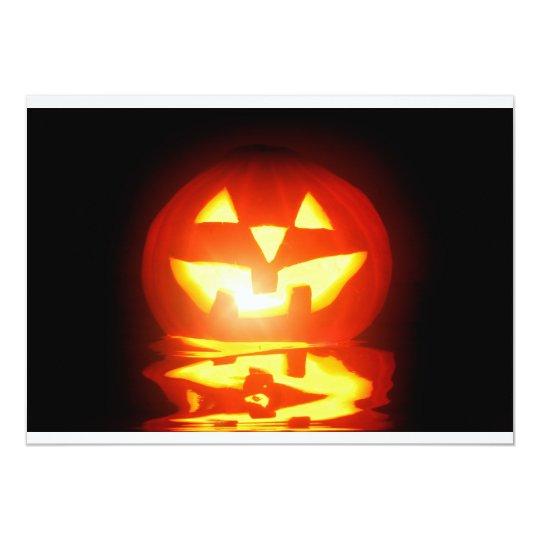 halloween pumpkin jack-o-lantern card