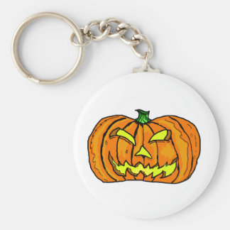 Halloween Pumpkin/Jack-o'-Lantern Key Chain