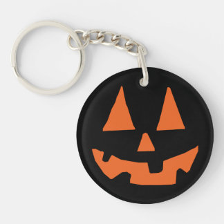 Halloween Pumpkin Jack-o-Lantern Keychain