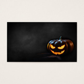 Halloween Pumpkin Jack-O-Lantern Spooky Business Card
