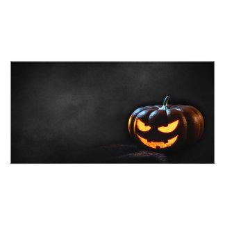 Halloween Pumpkin Jack-O-Lantern Spooky Card
