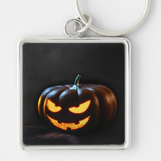 Halloween Pumpkin Jack-O-Lantern Spooky Keychain