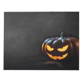 Halloween Pumpkin Jack-O-Lantern Spooky Notepad