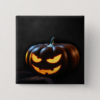 Halloween Pumpkin Jack-O-Lantern Spooky Pinback Button
