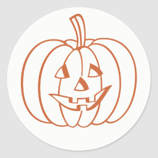 Halloween Pumpkin Jack O Lantern Stickers