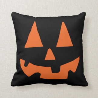 Halloween Pumpkin Jack-o-Lantern Throw Pillow