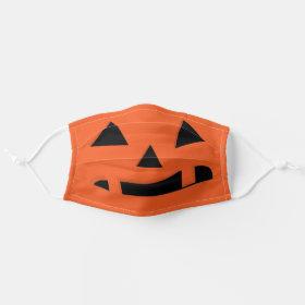 Halloween Pumpkin Jack O'Lantern Cloth Face Mask
