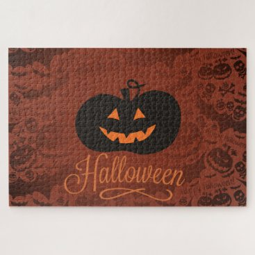 Halloween Themed Halloween Pumpkin Jigsaw Puzzle
