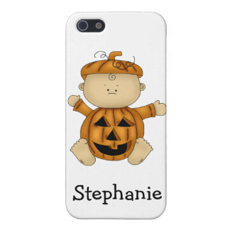 Halloween Pumpkin Kid-Personalized Name iPhone SE/5/5s Cover