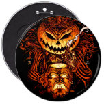 Halloween Pumpkin King 6 Inch Round Button
