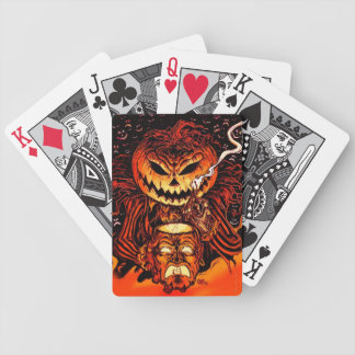 Halloween Pumpkin King Bicycle Playing Cards