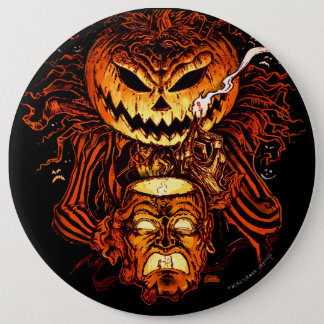 Halloween Pumpkin King Button