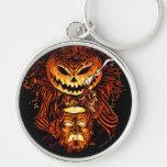 Halloween Pumpkin King Silver-Colored Round Keychain