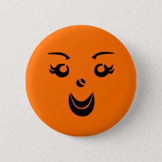 Halloween Pumpkin Lady Button