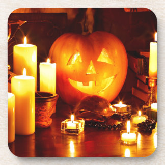 Halloween pumpkin lantern coaster