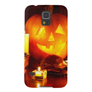 Halloween pumpkin lantern galaxy s5 cover
