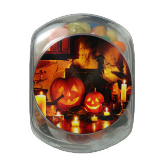 Halloween Pumpkin Lantern Jelly Belly Candy Jar