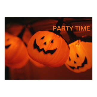 Halloween Pumpkin Lighting Party Time Invitation