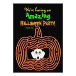 Halloween Pumpkin Maze and Ghost Custom Invite