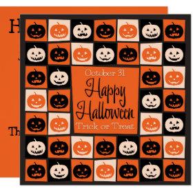Halloween pumpkin mosaic invitation