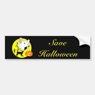 Halloween Pumpkin Mouse and Cats Bumper Sticker