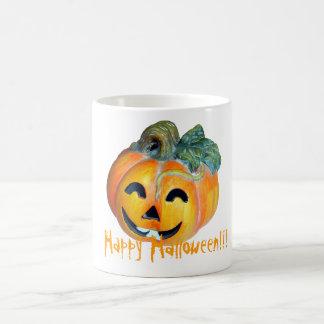Halloween pumpkin coffee mugs