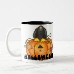 Halloween Pumpkin Mug/Cup Two-Tone Coffee Mug